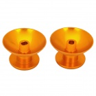Replacement Aluminum Alloy Joystick 3D Rocker Caps for Xbox360 Controller - Golden (2 PCS)