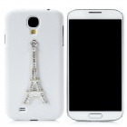 Fashion 3D Eiffel Tower Pattern Plastic Case for Samsung Galaxy S4 i9500 - White