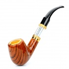 Quit Smoking Battery Powered Cigarette Smoking Pipe w/ DCT Atomizers - Brown (1 x 18350)