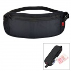 NatureHike NHTSYB Handy Ultra-slim Nylon Anti-theft Waist Wallet w/ Adjustable Band - Black