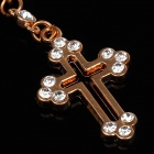 Hollow Cross Style 3.5mm Anti-dust Plug for Iphone 4S + More - Golden