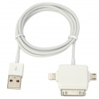 USB to 8-Pin Lightning / 30-Pin / Micro USB Charging Cable for iPhone 5 / 4 / iPad Mini - White