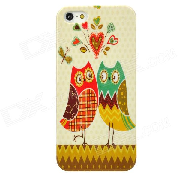 все цены на  Cute Owl Couples Style Protective Plastic Back Case for Iphone 5 - Multicolor  онлайн