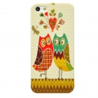 Cute Owl Couples Style Protective Plastic Back Case for Iphone 5 - Multicolor