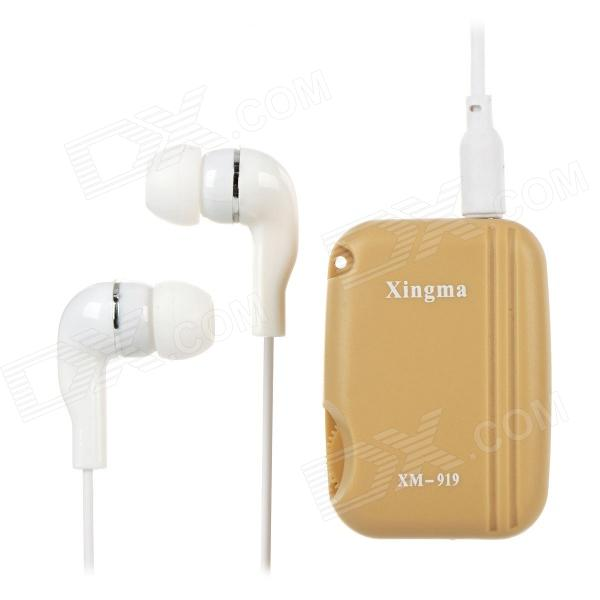 XINGMA XM-919T 300~4500Hz Wired Voice Amplifier w/ Earphones - Beige (1 x LR44)