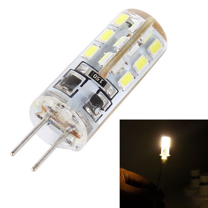 MSLED S15 G4 1.5W 120lm 3500K 24-SMD 3014 LED Flood Beam Warm White Light Lamp (DC 12V)