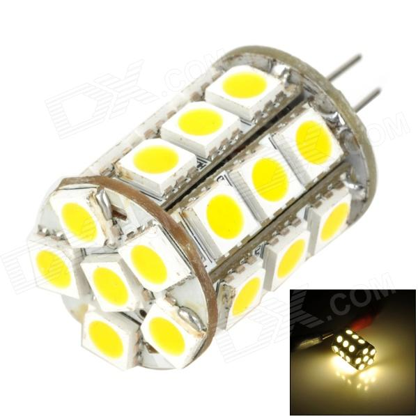 MSLED S06 G4 6W 240lm 3500K 27-SMD 5050 LED Warm White Light Lamp (AC / DC 12V) feng ling sb5512 ultrathin young model double eyelid tapes white yellow 240 pieces pack