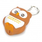Owl Style 2-LED Blue Light Flashlight Keychain - Brown + White + Orange