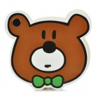 3272 Cute Bear Style Memo Pad Paper - Brown + White + Black + Green