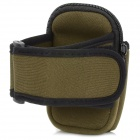 Sports Nylon Armband Bag Case para Iphone 4 / 4S / Celular - Dark Green + Black
