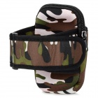 Sports Nylon Armband Bag Case for Iphone 5 / Cell Phone - Camouflage