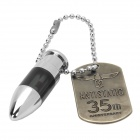 Stainless Steel Car Static Electricity Eliminator Anti-Static Keychain - Silver + Black