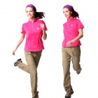 Naturehike-NH BD02 Quick Drying Polyester Sport Stand Collar T-shirt for Women - Deep Pink (Size L)