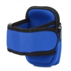 Sports Nylon Armband Bag Case for Iphone 4 / 4S / Cell Phone - Blue + Black
