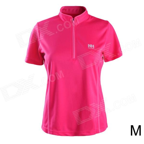 Naturehike-NH Quick Drying Polyester Sport Stand Collar T-shirt for Women - Deep Pink (Size M) naturehike nh outdoor travel quick drying polyester towel blue