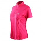 Naturehike-NH Quick Drying Polyester Sport Stand Collar T-shirt for Women - Deep Pink (Size M)