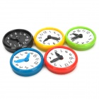 Funny E2ZJ Clock Style Plastic Fridge Magnet Stickers - Multicolored (5 PCS)