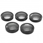 21mm 60 Degree PMMA Condensing Lens for 10W CREE-XML LED - Black + Transparent (5 PCS)