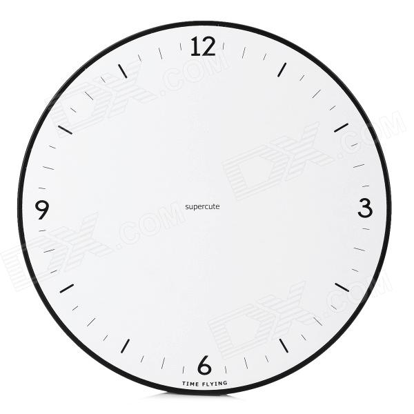 Time Flying Magnetic Ball clock - White + Black (1 x AA)