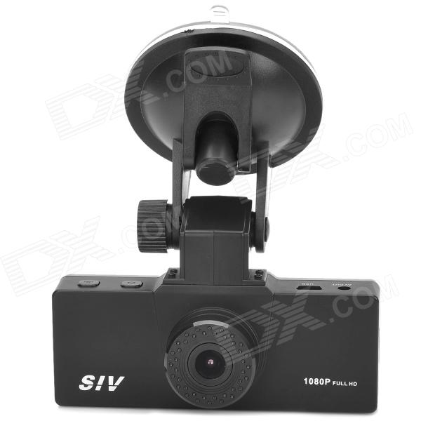 SIV M3 HD 1080P 1.5 TFT 5.0MP CMOS Wide Angle Car DVR w/ Night Vision / Mini HDMI - Black solar mini charge controller tracer2210an 12v 24v auto type usb cable temperature sensor black color mt50 20a