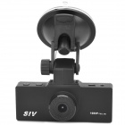 "SIV M3 HD 1080P 1.5"" TFT 5.0MP CMOS Wide Angle Car DVR w/ Night Vision / Mini HDMI - Black"