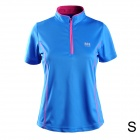 Naturehike-NH Quick Drying Polyester Sport Stand Collar T-shirt for Women - Blue (Size S)