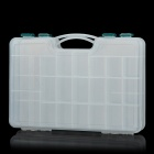 Multifunction Double-Layer 44-Compartment Fishing Gadgets Storage Case Box - Transparent White