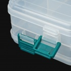 E4YW Multifunction Double-Layer 44-Compartment Fishing Gadgets Storage Case Box - Transparent White