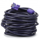 MILLIONWELL 24K Gold Plated VGA 3+6 Male to Male Connection Cable - Purple (15M)