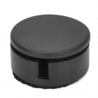 Mini Round Shape Cable Cord Winder w/ Screen Cleaner - Black
