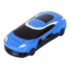 Car Shaped MP3 Player w/ TF Slot - Black + Blue
