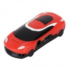 Car Shaped MP3 Player w/ TF Slot - Black + Red