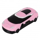 Car Shaped MP3 Player w/ TF Slot - Black + Pink