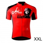 Spakct S13C02 Fashion Cycling Round Neck Polyester Short Sleeve Coat - Black + Red (Size XXL)