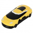 Car Shaped MP3 Player w/ TF Slot - Black + Yellow