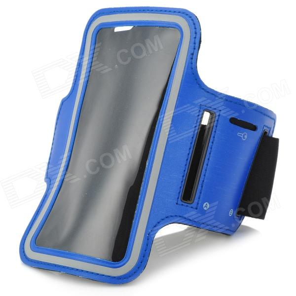 Sports Gym Nanometer Armband Case for Sony Xperia Z L36h C6603 - Blue + Black + Grey sports gym nanometer armband case for sony xperia z l36h c6603 blue black grey