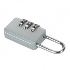 NatureHike Zinc Alloy Suitcase Coded Combination Lock - Silver
