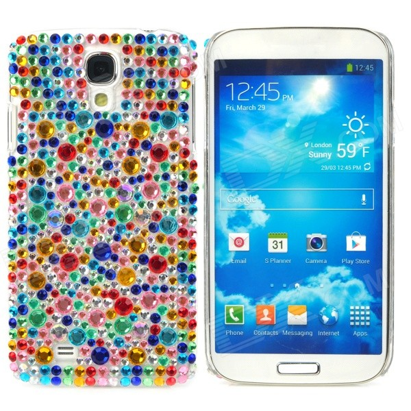 Fashionable Shiny Crystal Plastic Back Case for Samsung Galaxy S4 i9500 - Multicolored protective cute spots pattern back case for samsung galaxy s4 i9500 multicolored