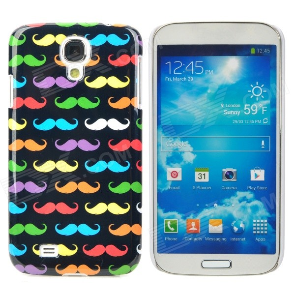 Fashionable Cute Moustache Pattern Plastic Back Case for Samsung Galaxy S4 i9500 - Multicolored protective cute spots pattern back case for samsung galaxy s4 i9500 multicolored