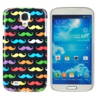 Fashionable Cute Moustache Pattern Plastic Back Case for Samsung Galaxy S4 i9500 - Multicolored