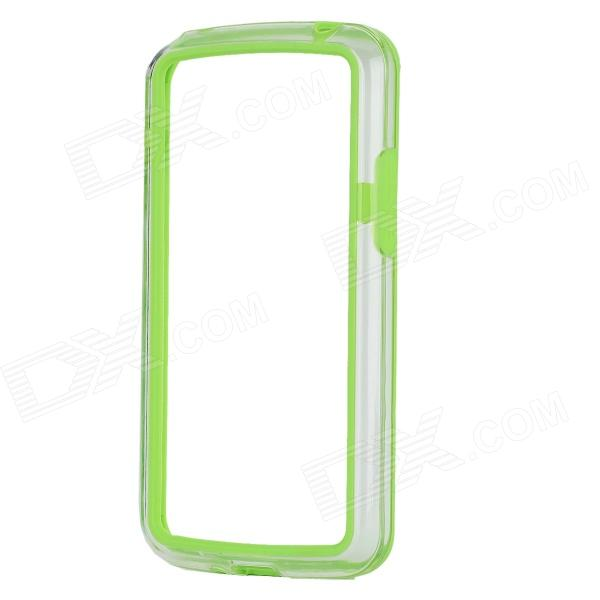 все цены на Protective TPU + PC Bumper Frame for LG E960 / Google Nexus 4 - Green + Transparent онлайн