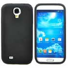 Simple Silicone Plastic Matte Back Case for Samsung Galaxy S4 i9500 - Black