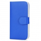 Peacock Pattern Protective Flip-Open PU Leather Case for Samsung Galaxy S4 i9500 - Blue