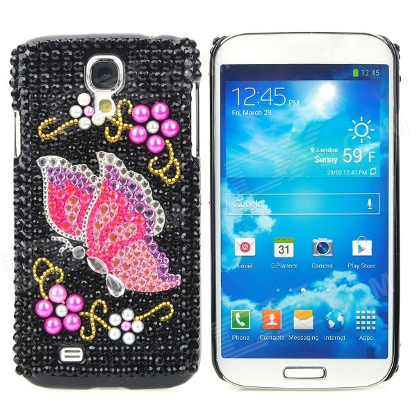 Fashionable Butterfly Pattern Crystal Back Case for Samsung Galaxy S4 i9500 - Multicolored protective cute spots pattern back case for samsung galaxy s4 i9500 multicolored