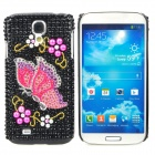 Fashionable Butterfly Pattern Crystal Back Case for Samsung Galaxy S4 i9500 - Multicolored