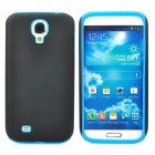 Detachable Protective Silicone + PC Back Case for Samsung Galaxy S4 / i9500 - Black+ Blue
