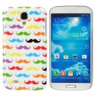 Handlebar Mustache Patterns Protective Plastic Back Case for Samsung i9500 - Multicolor