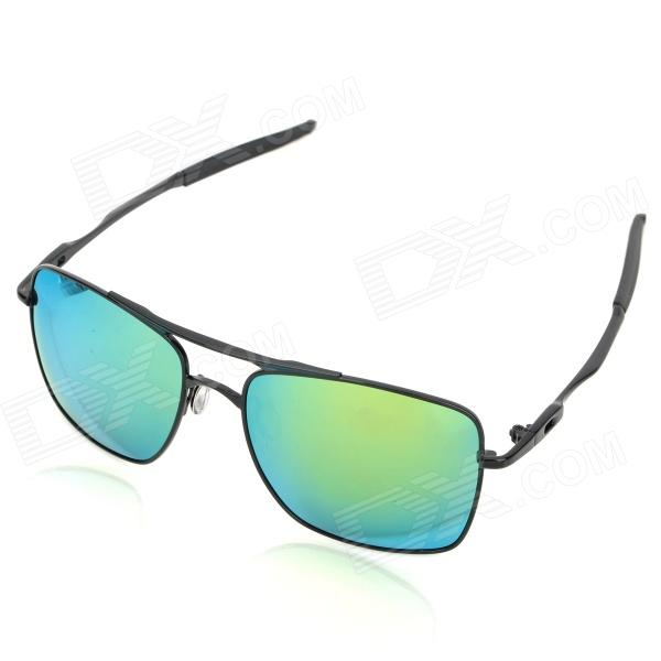Oreka 4050 UV400 Protection High-Nickel Alloy Frame Revo TAC Polarized Lens Sunglasses - DXSunglasses<br>Brand Oreka Model 4050 Quantity 1 Gender Mens Suitable for Adults Protection UV400 Frame Color Black Lens Color Green Frame Material High-nickel alloy Lens Material TAC polarized lens Lens Height 47 mm Lens Width 56 mm Bridge Distance 17 mm Overall Width of Frame 140 mm Temple Length 127 mm Features Eliminate harmful ultraviolet light reflective light etc. Suitable for various outdoor sports including travel fishing driving wearing. Packing List 1 x Sunglasses 1 x Case 1 x Cleaning cloth<br>