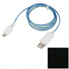 USB to Micro USB Data / Charging Cable w/ EL Light for Samsung / HTC / Sony + More - Blue + Green