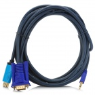1080P HDMI to VGA + 3.5mm Audio Conversion Cable - Grey + Blue (300cm)